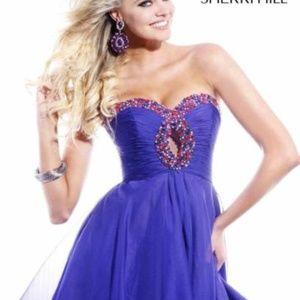 Sherri Hill Long Prom Dress with Beaded S.4